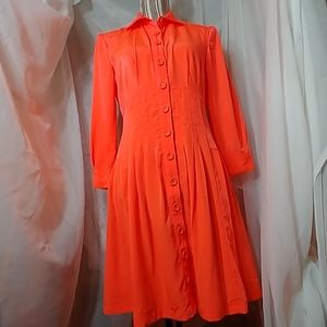 Nanette Lepore Neon Fuschia Button Down Dress 6
